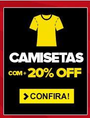 Camisetas com + 20% OFF