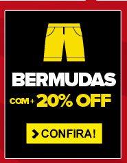 Bermudas com + 20% OFF