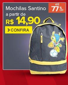 Mochilas Santino a partir de R$14,90