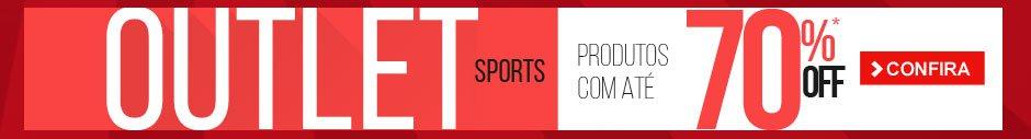 Outlet Sports! Produtos com até 70% OFF
